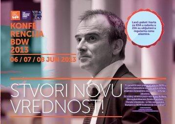 prodajna brosura ARH SRB - Belgrade Design Week