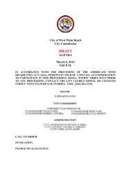 3/5/12 Meeting Agenda - City of West Palm Beach