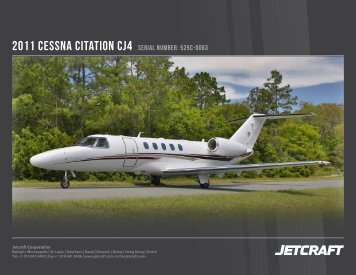 2011 Cessna Citation CJ4 serial number: 525C-0063 - Business Air ...