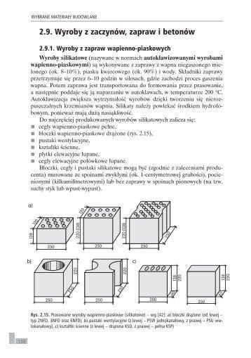 2.9. Wyroby z zaczynów, zapraw i betonów - Sklep Internetowy WSiP