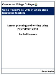 Using PowerPoint 2010 for MFL - Rachel Hawkes