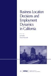 Business Location Decisions and Employment Dynamics in California