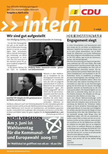 Aus dem Kreisverband KREISTEIL - CDU Kreisverband Biberach