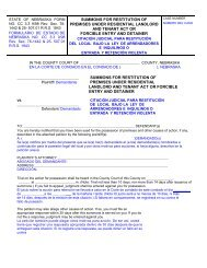 summons for restitution of premises under residential landlord and ...
