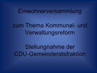 Stellungnahme - CDU Limburgerhof