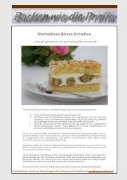 Stachelbeer-Baiser-Schnitten - Backen wie die Profis