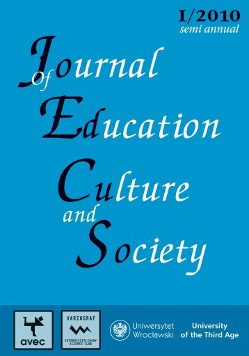 Download PDF version - The Journal of Education, Culture and ...