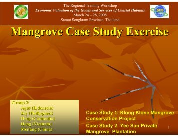 Valuing Mangrove Goods and Services (Participant Group 2)