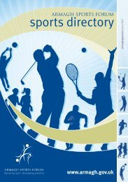 sports directory - Armagh City and District Council