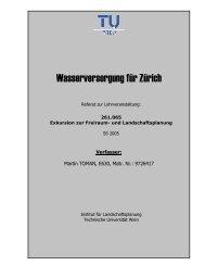 Wasserversorgung für Zürich - Technische Universität Wien