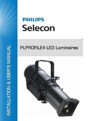PLPROFILE4 LED Luminaire Installation & User's - Strand Lighting