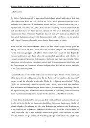 Wilhelm Weber: Von der Wertschätzung aller in der Kirche (1 Kor, 12 ...