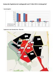 Analyse der Ergebnisse der Landtagswahl vom ... - CDU Limburgerhof