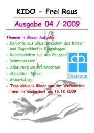 Ausgabe 04 / 2009 KIDO - Frei Raus - Kinder- und Jugenddorf ...