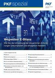 Heft 2 9/2011 Wegweiser E-Bilanz: Wie Sie die Umsetzung ... - PKF
