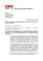 Antrag vom 20 Juli 2008 - Zustand Bahnhof - CDU Limburgerhof