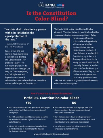 Is the U.S. Constitution color-blind? - National Constitution Center