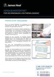 VERGILBUNGSTESTSET - Carl von Gehlen Gmbh & Co. KG