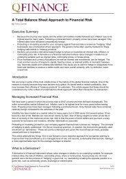 A Total Balance Sheet Approach to Financial Risk - QFinance