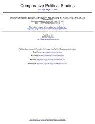 Comparative Political Studies - University of North Carolina at ...