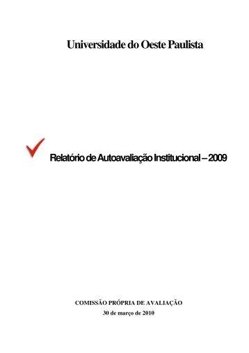 Relatório de Autoavaliação Institucional - 2009 - Unoeste