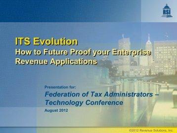 ITS Evolution - Federation of Tax Administrators