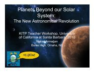 Planets Beyond our Solar System: - KITP