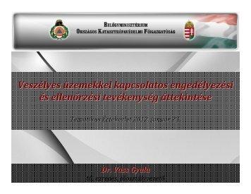 Veszélyes üzemekkel kapcsolatos engedélyezési és ellenőrzési ...