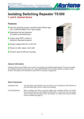 TS500-00- Prospekt - Martens Elektronik GmbH