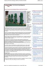 The Online Pump Magazine Pagina 1 di 2 Caprari Announces ...