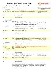 Program for konfirmanter høsten 2012 - Sandefjord kirkelige fellesråd