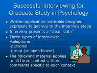 Interviewing - University of Florida Department of Psychology