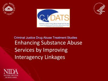 Enhancing Substance Abuse Services by Improving Interagency ...
