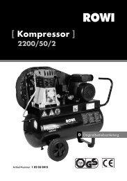 [ Kompressor ] 2200/50/2