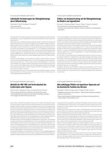 Abstracts 65 - Deutsche Zeitschrift für Sportmedizin