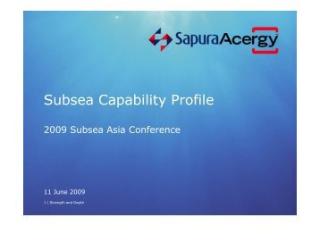 Subsea Capability Profile - Subsea UK