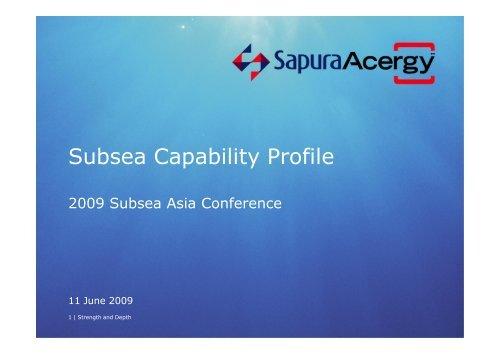 Subsea Capability Profile - Subsea UK