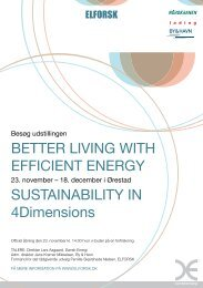 Better Living with efficient energy SUStAinABiLity in ... - Faktor 3