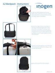 G2 Backpack - Instructions - Inogen One
