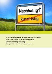 Nachhaltigkeit in der Hochschule - Universität Bremen