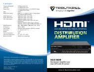 HDA180IR - HDMI Distribution Amplifier - Tributaries Cable