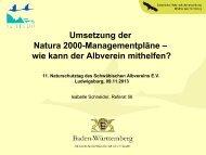 Umsetzung der Natura 2000-Managementpläne - Schwäbischer ...