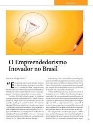 O Empreendedorismo Inovador no Brasil - Finep