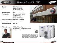 Referenz-Bericht 10 | 2013 - MTF GmbH