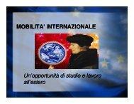 presentazione programmi di mobilità - Università degli Studi di Trieste