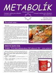 Metabolík 4/2006 - Národní sdružení PKU a jiných dědičných ...