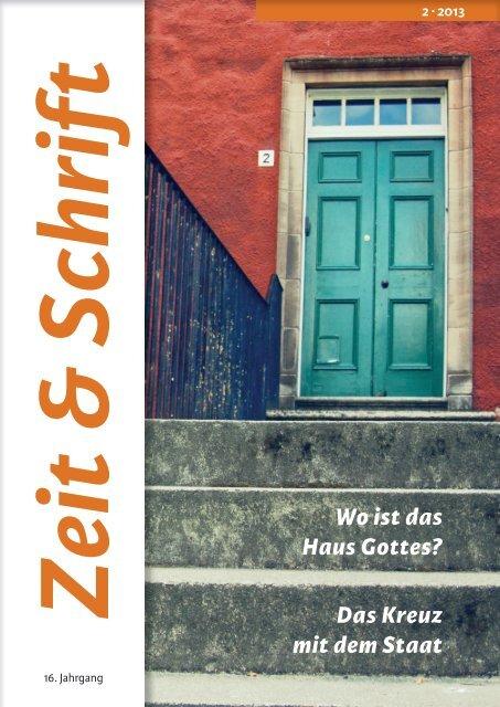Heft 2/2013 - Zeit & Schrift