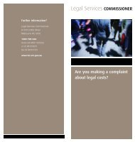 Are you making a complaint about legal costs? - Legal Services ...
