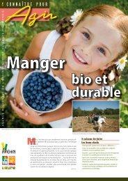 Manger bio et durable - Arehn
