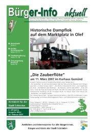 Historische Dampflok auf dem Marktplatz in Olef ... - Stadt Schleiden